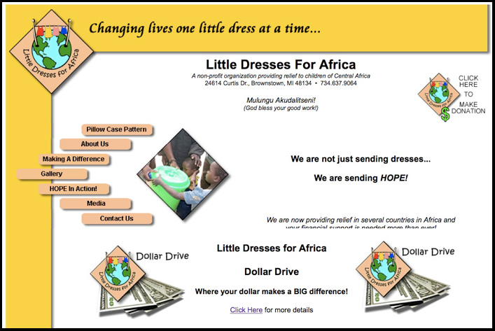 Little Dresses For Africa A Site Makeover
