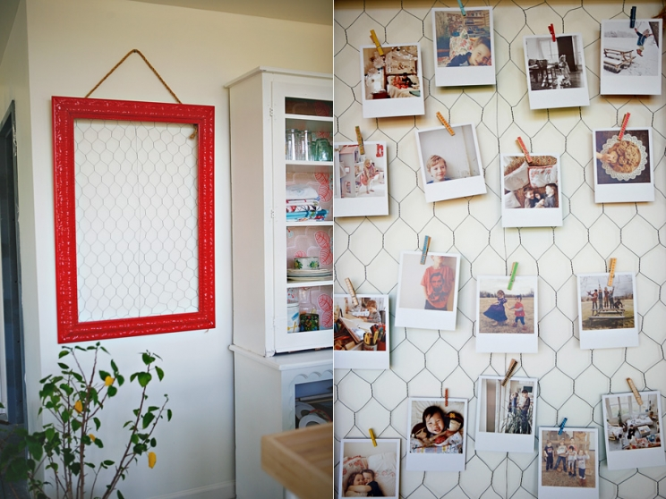 graduation party photo display ideas - diy origrami chicken wire frame ashleyannphotography